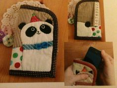 DIY Panda iPhone case/cover Kit Includes Pattern & Materials! $15.00