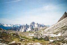 Panorama au pied des Tre Cime, Tre Cime di Lavaredo, Parco naturale Tre Cime, 32041 Auronzo di Cadore, Belluno, Italie
