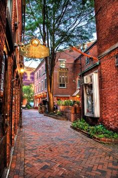 Penhallow Street and Market Street, Portsmouth, NH, England
