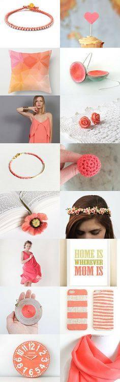 Coral for Moms!!! by Joanna on Etsy--Pinned with TreasuryPin.com
