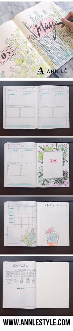 PLAN WITH ME | MAY 2017 | BULLET JOURNAL – Ann Le Style