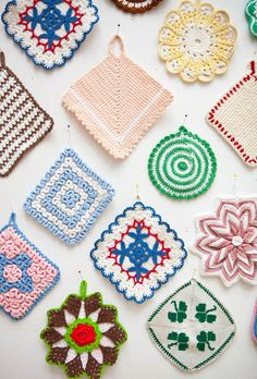 Collection of Handmade Crocheted potholders by FineLitttleDay