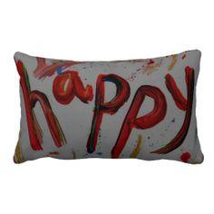 """happy"" pillows decor"