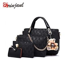 989e184965b47b Famous Brand Women Bag Brand 2017 Fashion Women Messenger Bags Handbags PU  Leather Female Bag 4 piece Set XP659-in Shoulder Bags from Luggage & Bags  on ...