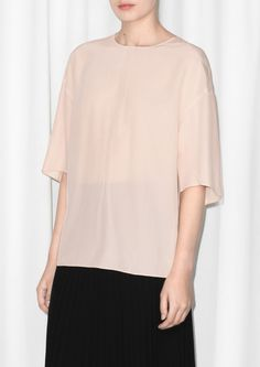 & Other Stories   Mulberry Silk Blouse   Beige