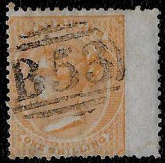+ 1864 Mauritius Island Indian Ocean Colony QV #39 A9 1Sh B53-Port Louis