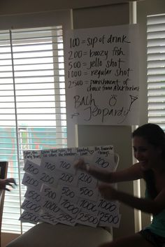Bachelorette Jeopardy! What a cute Idea - decorating-by-day