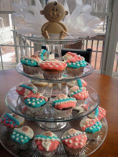 Baby Shower Cupcake Tower baby shower cupcake tower