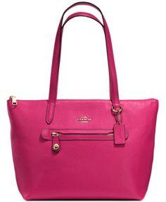 3c815461f9c0 COACH Market Tote in Pebble Leather Handbags   Accessories - Macy s