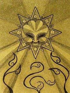 #Tattoo ideas; Aztec sun