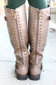 Studded Riding Boot