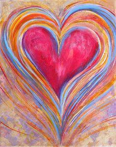 Happy Dancing Heart Painting - Happy Dancing Heart Fine Art Print