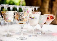 Teacups as wine glasses!  Secret Garden Ceremony | The Bride's Tree - Sunshine Coast Wedding  #diybride