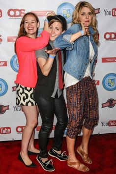 Mamrie Hart, Hannah Hart, and Grace Helbig The Holy Trinity of YouTube
