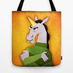 Grumpy Unicorn Tote Bag
