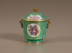 Sevres Porcelain Sucrier with Cover