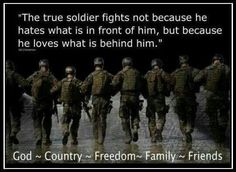 The Reason a soldier fights. - MilitaryAvenue.com