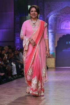 Sharmila Tagore walks the runway at the Birdhichand Ghanshyamds Jewellers show on day 4 of India International Jewellery Week 2013