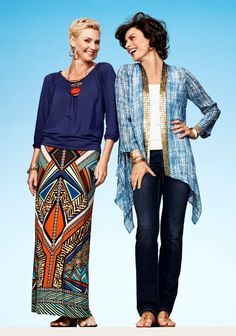 What makes these looks so fabulous? Signature prints and lots of shimmery, exquisite little touches. #chicos