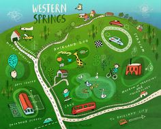 A mini map of Western Springs, Auckland | Carla Martell