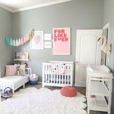 "Project Nursery | Junior on Instagram: ""Is there anything we DON'T love about this sweet baby girl nursery?! And that toddler bed from @wayfair is too adorable! Design credit: @jackieonelson - thanks for sharing with us by tagging #projectnursery!"""