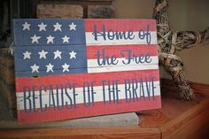 Distressed Wooden American Flag Barn Board Sign - Rustic Country Decor