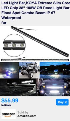 SUPERIOR VISIBILITY: This 108w light bar combined with spot and flood beam, contains 36pcs 3w high intensity LEDS and 6000K Pure white light , up to 12960 lumens makes it Superior visibility and stand out among other vehicles, compatible with all off road,SUV, UTV, ATV * HIGH PROTECTIVE PERFORMANCE:IP67 Waterproof Rate, 100% dustproof and waterproof ; 2 hours immersing water waterproofing test pass. * BETTER HEAT DISSIPATION: High-quality heat conduction silicone gel together with redesigned…