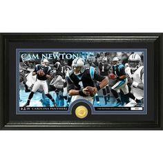 Cam Newton Bronze Coin Panoramic Photo Mint