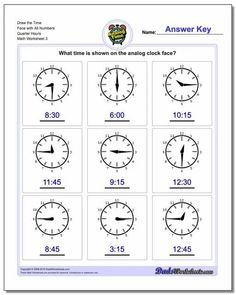 These printable PDF worksheets introduce math concepts appropriate for first grade, including place value, telling time, ordering numbers, addition, subtraction and more. Worksheets with answer keys and many charts and other other printables. Time Worksheets Grade 3, Clock Worksheets, Place Value Worksheets, Free Printable Math Worksheets, Addition Worksheets, Kindergarten Math Worksheets, Worksheets For Kids, Math Resources, In Kindergarten