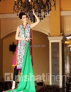 #NishatLinen Spring Summer Dresses 2014 Volume 1 #NishatLinenSpringDresses2014 #NishatLinenSpringDresses2014