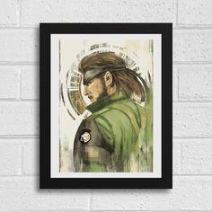 Big Boss Metal Gear Solid Inspired Art Print by SefieRosenlund by Sefie Rosenlund @ Etsy. Big Boss Metal Gear, Metal Gear Solid, Drawing Tablet, Wacom Intuos, Sign Printing, Digital Art, My Arts, Photoshop