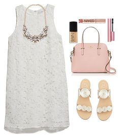 """Untitled #100"" by valerienwashington ❤ liked on Polyvore featuring MANGO, Forever 21, Jack Rogers, Kate Spade, NARS Cosmetics, Too Faced Cosmetics and Urban Decay"