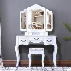 Комод .. спальня белый столик для макияжа