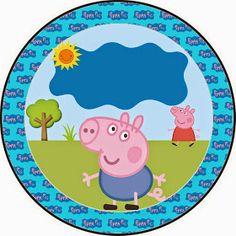 Fazendo a Propria Festa: KIT DE ARTES PERSONALIZADAS DIGITAIS TEMA GEORGE PIG Cumple George Pig, Peppa E George, George Pig Party, Invitacion Peppa Pig, Cumple Peppa Pig, 2nd Birthday Parties, Birthday Party Decorations, Pig Birthday, Peppa Pig Printables