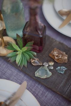 Sea Glass, old bottles, & crystals. Easy to DIY