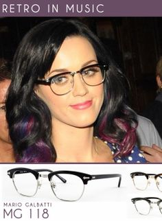 Today on #Tumblr we feature music superstar Katy Perry showing off her vintage eyewear pride. Get the look with Mario Galbatti's MG 118 frames in Black. See the full set of frames here: Mario Galbatti MG 118.