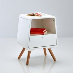 Anda Contemporary Solid Pine 1-Drawer Bedside Table La Redoute Interieurs | La Redoute Mobile