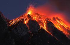 Italy, Sicily, Lava flow from stromboli volcano Volcano National Park, Yellowstone National Park, National Parks, Yellowstone Volcano, Volcano Wallpaper, Volcan Eruption, Hawaii Volcano, Lava Flow, Amazing Nature