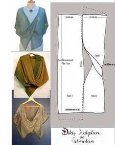 Wrap Pattern Pattern Cutting No Sew Cape Sewing Patterns Free Clothing Patterns Dress Patterns Short Frocks Fabric Manipulation Sewing Clothes Dress Sewing Patterns, Clothing Patterns, Knitting Patterns, Crochet Patterns, Poncho Patterns, Knitting Ideas, Infinity Dress Patterns, Blouse Sewing Pattern, Dress Sewing Tutorials