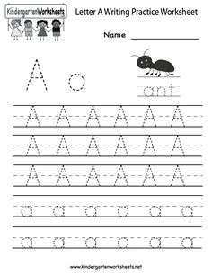 Letter i, Writing practice and Worksheets on Pinterest