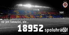 """""""not only fans, but ... 18952 teammates!"""""""
