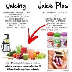 Juice Plus is so much easier than juicing! More