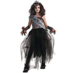 Goth Prom Queen Girls Halloween Costume