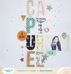 #papercrafting #scrapbook #layout idea: Captured by myfrogprince at @studio_calico