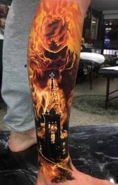 s leg tattoos, best sleeve tattoos, lower leg tatt 3d Tattoos, Best Sleeve Tattoos, Badass Tattoos, Tattoo Sleeve Designs, Body Art Tattoos, Tattoos For Guys, Tattoo Ink, Burn Tattoo, Sketch Tattoo
