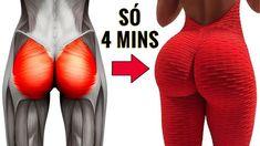 4 MINUTOS PARA AUMENTAR GLUTEOS! 7 Exercicios Para Pernas e Gluteos! Como Aumentar Bumbum Rápido