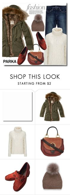 """Parka time"" by gifra ❤ liked on Polyvore featuring Hollister Co., Levi's, Woolrich, MICHAEL Michael Kors, Gucci and Simons"