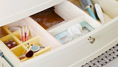 Keep your bathroom drawer organized with this simple DIY.