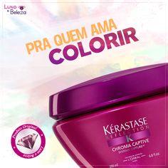 Máscara Kérastase Chroma Captive http://luxoebeleza.com.br/mascara-para-cabelos-coloridos-kerastase-reflection-chroma-captive-200g.html