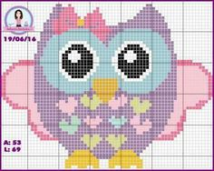 Owl cross stitch.